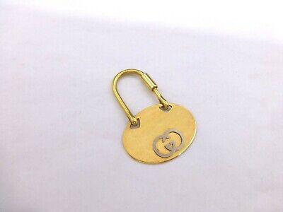 Vintage Gucci keychain Italy brass met. logo key chain holder