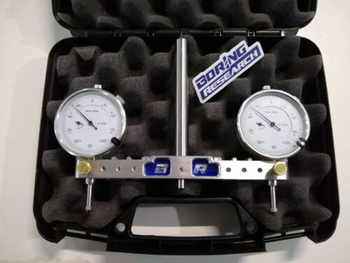 "Adjustable Spindle Square Mill Router Tram Tool 3-6"" .5 shank + Indicators, Case"