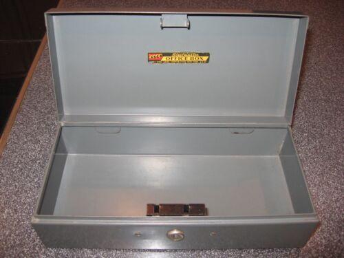"Vintage 10"" Metal Box Steelmaster Office Equipment Box Art Steel Co Industrial"