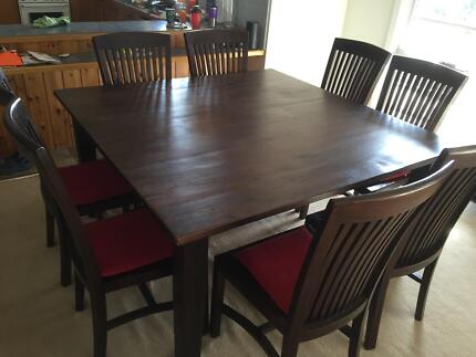 Gorgeous solid teak dining chairs and Mango wood dinning table