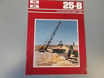 Rare Bucyrus-erie 25-b Crane Excavator Sales Brochure 1977