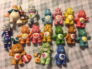 "Vintage 3"" Poseable Care Bears Lot"
