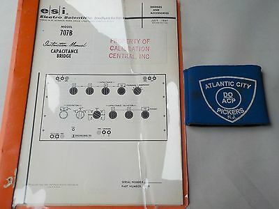 Electro Scientific Model 707b Capacitance Bridge Instruction Manual