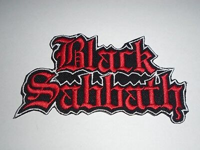 BLACK SABBATH IRON ON EMBROIDERED PATCH