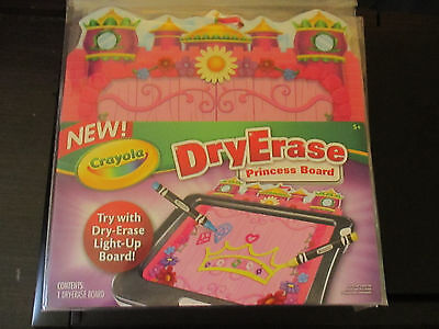 NEW Crayola Dry Erase Princess Board Use Alone or Works With Light-Up Board