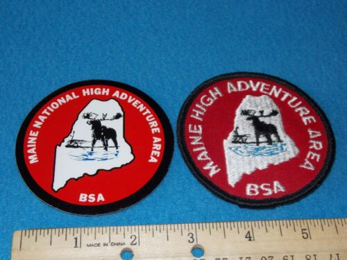 VINTAGE - BSA Maine High Adventure Base Patch & Decal - NEW