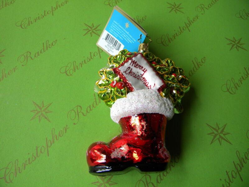 Christopher Radko Hello Holly Glass Ornament