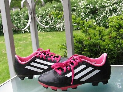 50f2cc645 ADIDAS Girls Black Pink Cleats Youth size 2.5