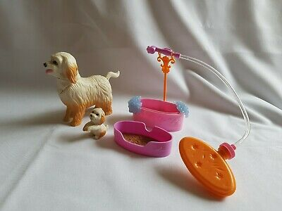 Barbie Dog Bundle (from Clean Up Pup Set) - 2 Dogs, Bath/Shower and Sand Box