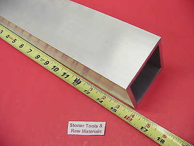 3x 3x 14 Wall Aluminum Square Tube 16 Long 6061 T6 3 Sq X .250 Tubing