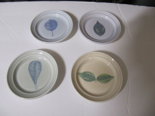 SET OF FOUR PORTMEIRION SEASONS LEAVES BUTTER PATS small dishes EXCELLENT