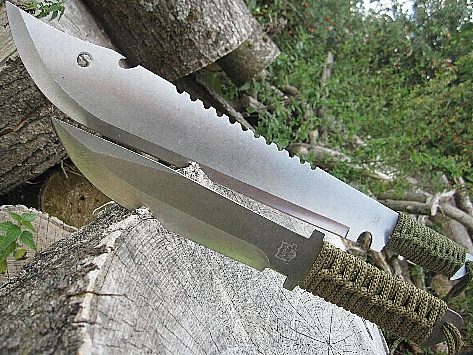 2 in 1 Outdoorset MACHETE + Messer BUSCHMESSER AXT SÄGE Beil Angeln Jagd Camping