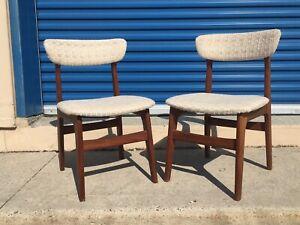 Set of 4 Mid century modern Teak chairs