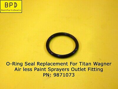 Titan Wagner Airless Paint Sprayers Outlet Fitting O-ring Replacement 9871073