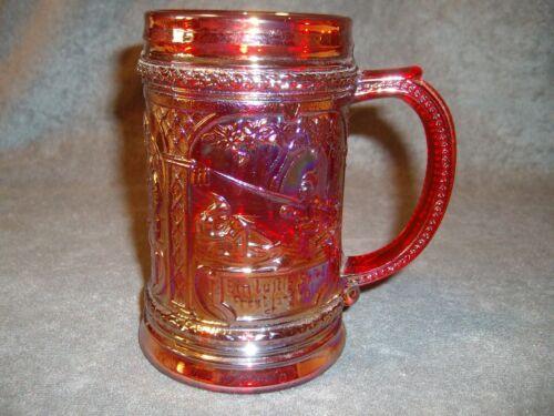 Westmoreland Glass Ruby Carnival Glass Mug