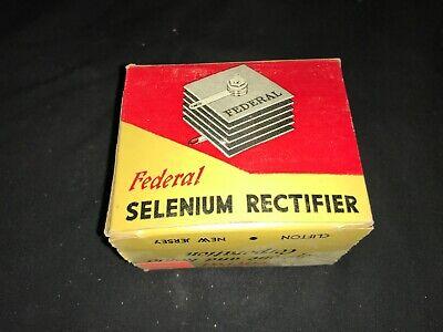 Vintage Nos Nib Selenium Rectifier Federal Model 1021 450ma 130v Max