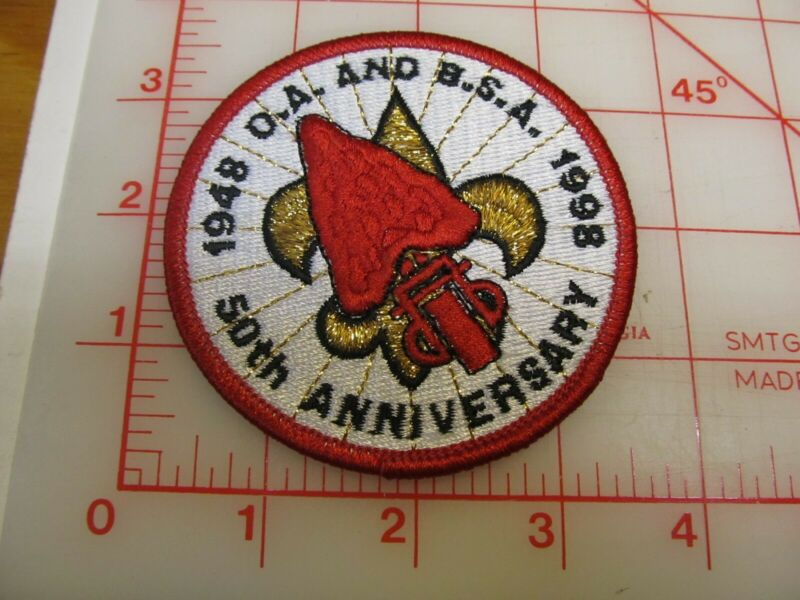OA 50th Anniversary and B.S.A. collectible patch (oH)