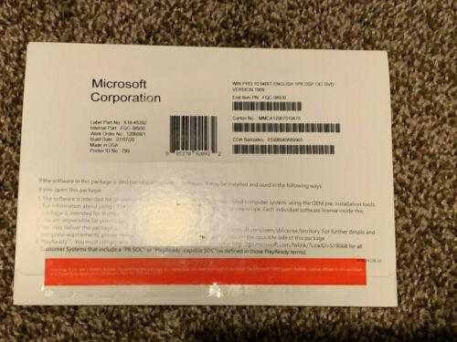 Windows 10 Professional Pro 64 Bit Dvd Product key FQC-08930