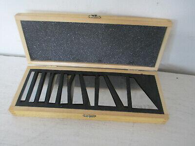 10 Pc Precision Angle Block Set 5 To 30 Degree Block Gage W Wood Storage Box