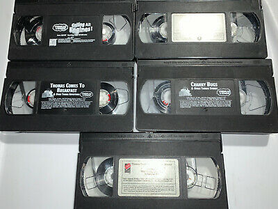 5 Lot VHS Thomas And Friends Thomas The Train Engine Kids Movies Just Tapes
