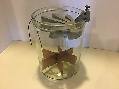 Daniell Cell Antique Vintage Glass Battery Gravity Used on Telegraph