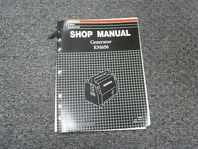 Honda Em650 Gas Portable Generator Shop Service Repair Manual Pub No 61za870