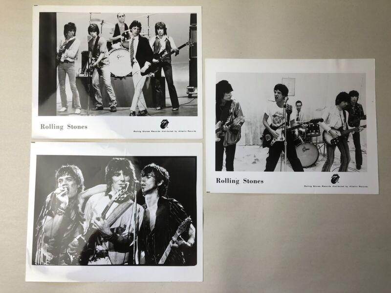 Vintage Authentic Rolling Stones Atlantic Records 8x10 Promo Photos