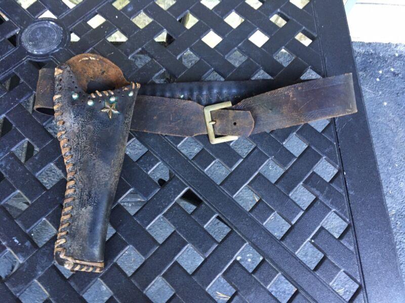 Original Vintage Late 1800's Slim Jim Western Gun Slinger Holster & Belt