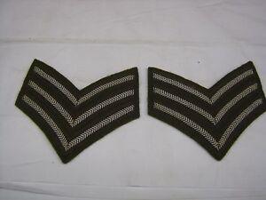 Sergeants Cloth Stripes  Arm Chevrons Rank Badge