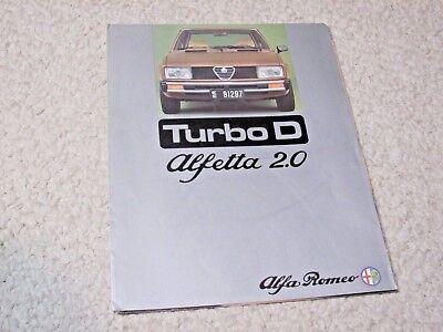 1976 ALFA ROMEO TURBO D SALES BROCHURE..