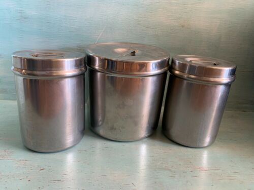 Vintage Vollrath Stainless Steel Canister Set of 3