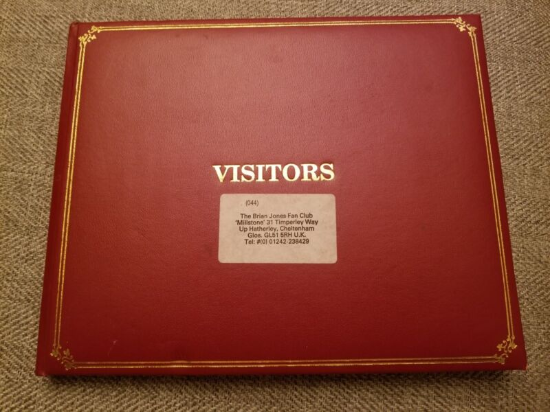 Brian Jones Fan Club Guest Book Many Signatures From Early Stones to Death