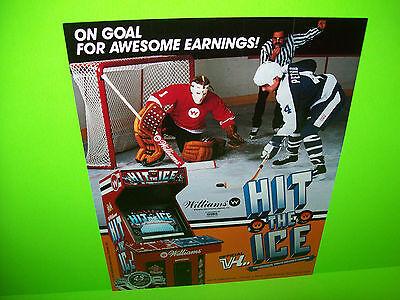 Williams HIT THE ICE Original NOS 1990 Video Arcade Game Promo Sales Flyer