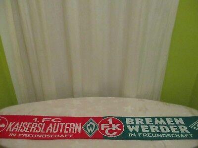 """1.FC Kaiserslautern/Werder Bremen Fan Freundschaft Schal """"IN FREUNDSCHAFT"""" gebraucht kaufen  Bad Staffelstein"""