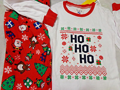 NWT TCP holiday Children's place 14 Santa Elves flannel pants pajamas red XMAS