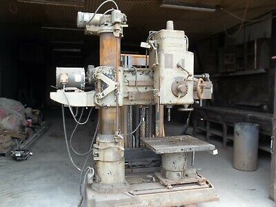 Morris Radial Arm Drill With Slotted Table Drill Press