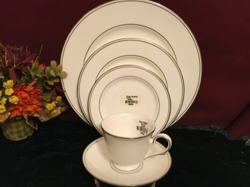 LENOX FEDERAL Platinum 5 Piece Place Setting NEW USA Free Shipping