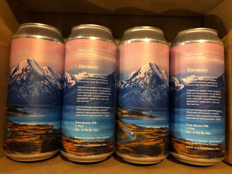 """Tree House Brewing HARMONY 4 COLLECTIBLE """"empty"""" CANS monkish Trillium 450 North"""