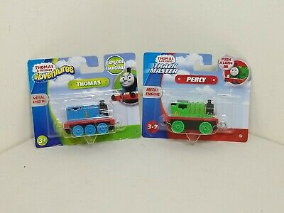 LOT OF 2 FISHER-PRICE THOMAS & FRIENDS: ADVENTURES THOMAS & TRACK MASTER PERCY