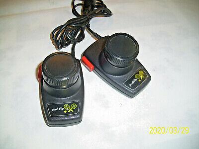2 Atari 2600 Pong Tennis Paddle Game Controllers OEM Vintage Red Black