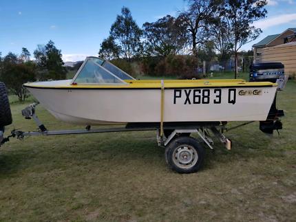 Fiberglass boat 4.3m