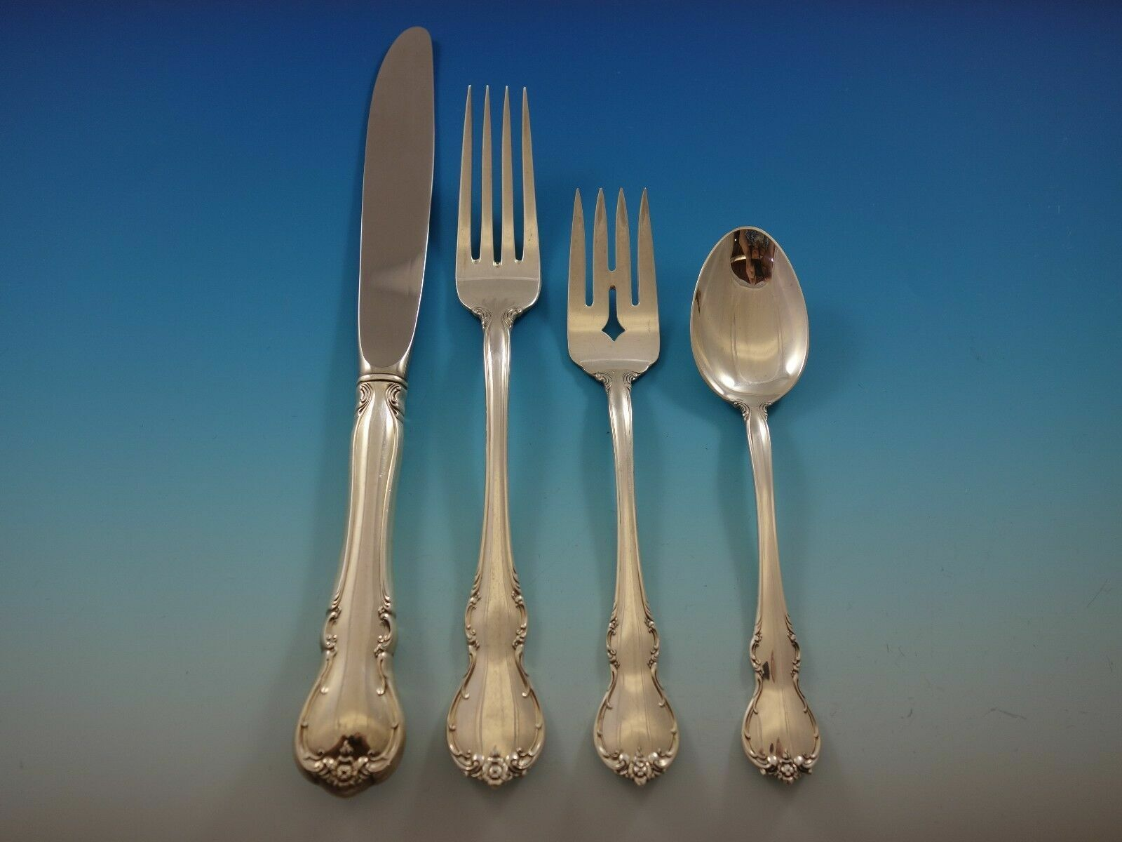 -French King Richard-Towle Sterling 4-PC Dinner Place Setting s