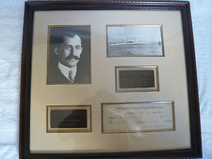 ORVILLE-WRIGHT-BROTHERS-SIGNED-AUTOGRAPHED-CHECK-FRAMED-DISPLAY-VERY-RARE-ITEM