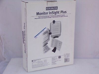 Kensington K62063b Monitor Insight Plus Ergonomic Document Holder Organizer