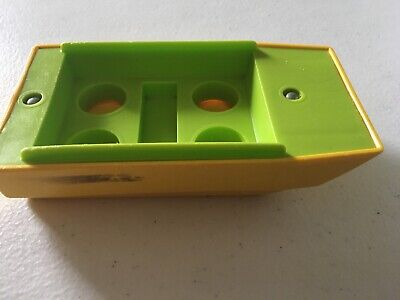 Vintage Fisher Price Little People  Lime Green/Yellow Boat Pop Up Camper 992