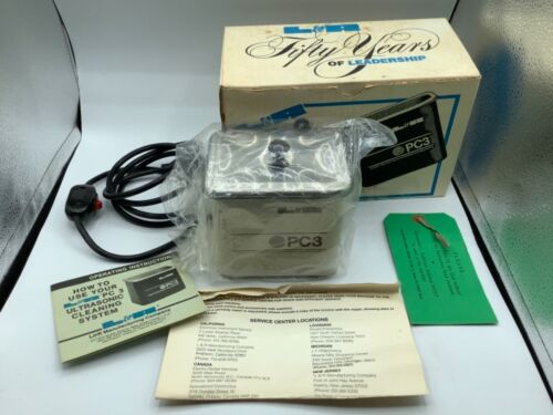L&R PC3 ultrasonic cleaner system brand new in box NOS
