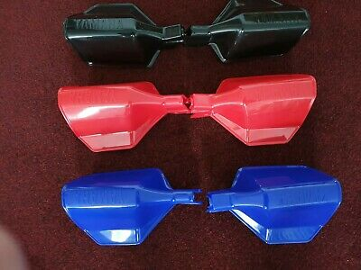 <em>YAMAHA</em> DT 125 R HAND GUARDS BRUSH GUARDS KNUCKLE GUARDS YELLOW WHITE G