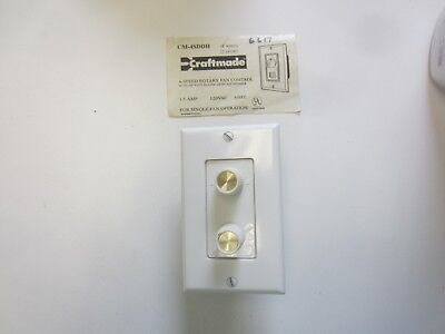 Craftmade Fan Speed Control And Light Dimmer White by Leviton Dimmer Fan Speed Control