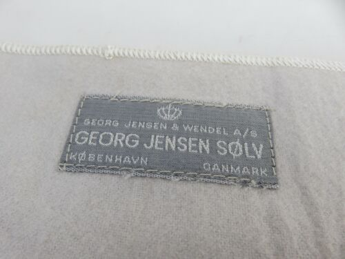 Georg Jensen PREMIUM Silver Anti Tarnish Cloth Roll Bag Pouch 6 1/2 x 10 3/4