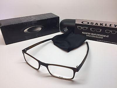 Nib Oakley Milestone 2 0 Matte Dark Amber Frames 50 19 Eyeglasses Ox8047 0450